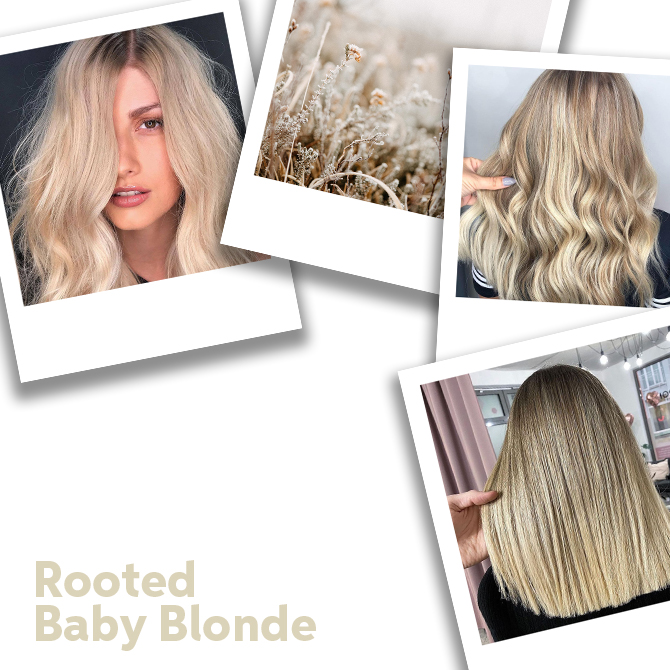 Close up of Rooted Baby Blonde Hair