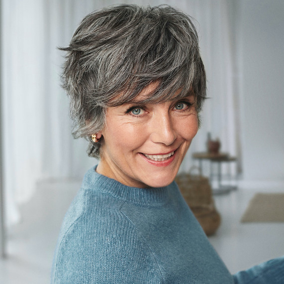 The partial silver glow treatment, created using Wella Professionals
