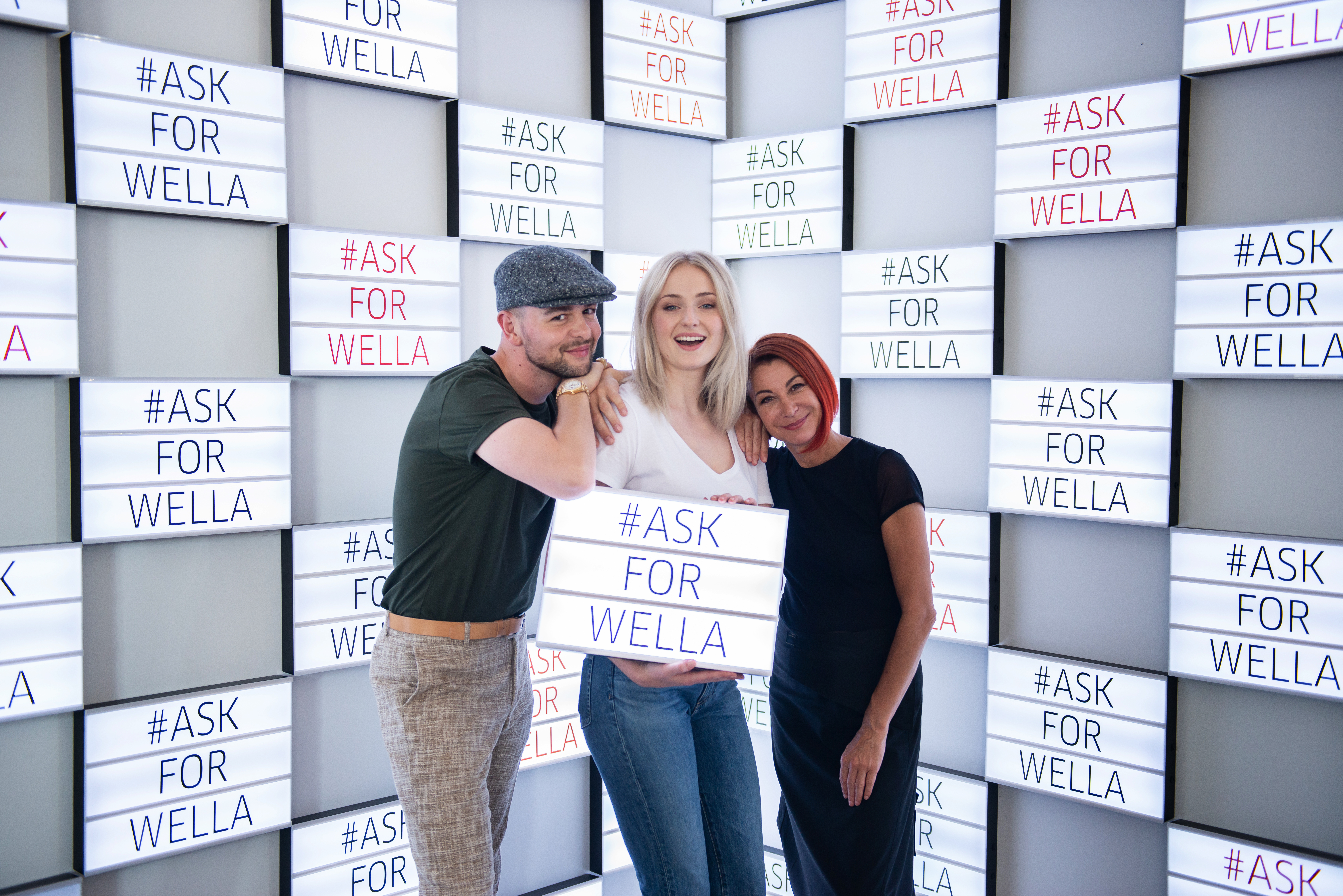 Sophie Turner, Christian Wood, Sonya Dove, #AskForWella