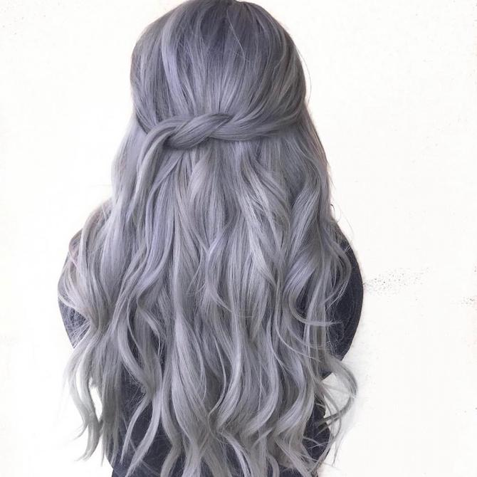 How to Wear Metallic Hair Color
