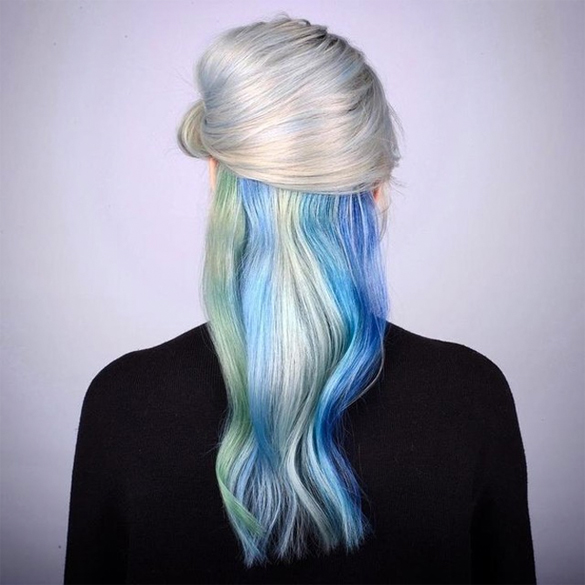 ICE BLONDE RAINBOW HAIR COLOR