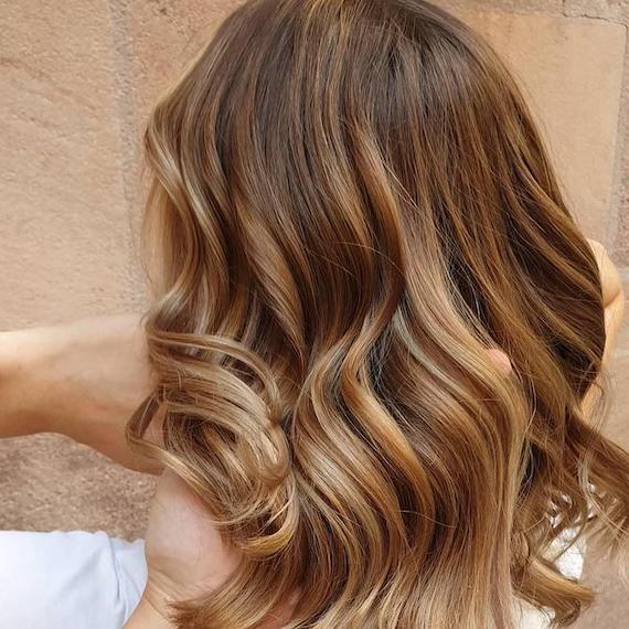 Back of woman's head with bronde hair, created using Wella Professionals.