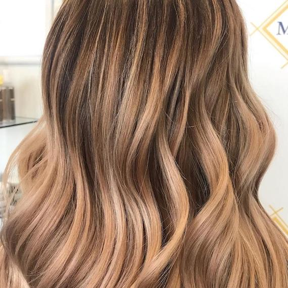Back of woman's head with light bronde hair, created using Wella Professionals.