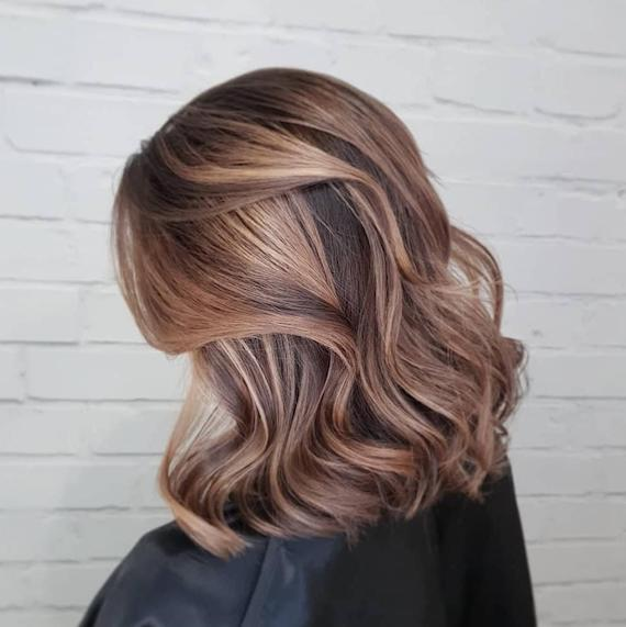 Balayage on light brown hair, created using Wella Professionals