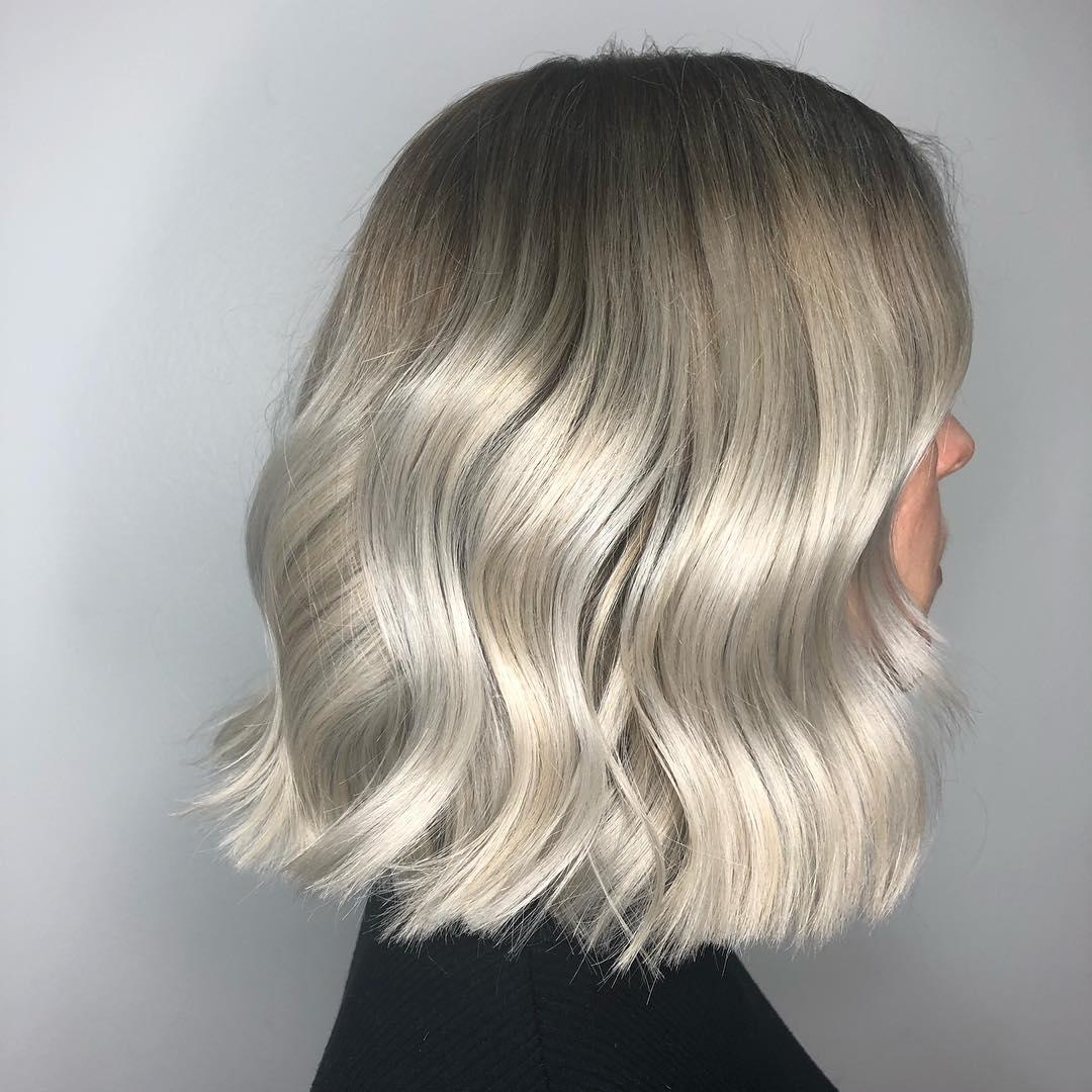 Balayage on silver hair, created using Wella Professionals