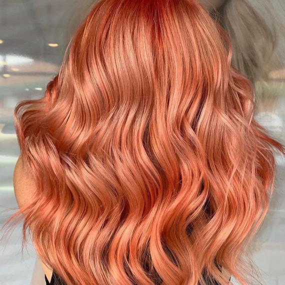 9 Of The Juiciest Peach Hair Color Ideas Wella Professionals