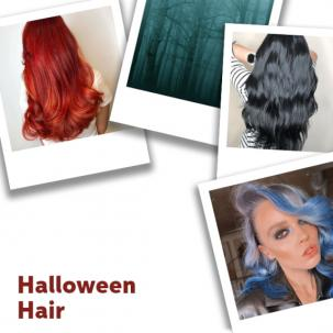 Collage Of Halloween hair, created using Wella Professionals