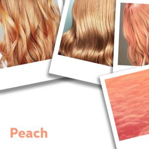Montage of peach hair looks