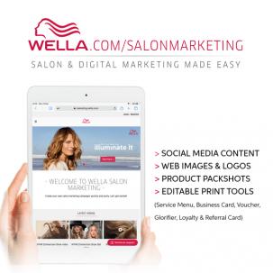 Ipad with Wella homepage