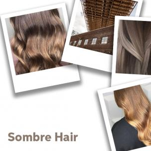 Collage of sombre hair looks, created using Wella Professionals.