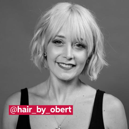 Three Wella Professionals hair stylists in black and white