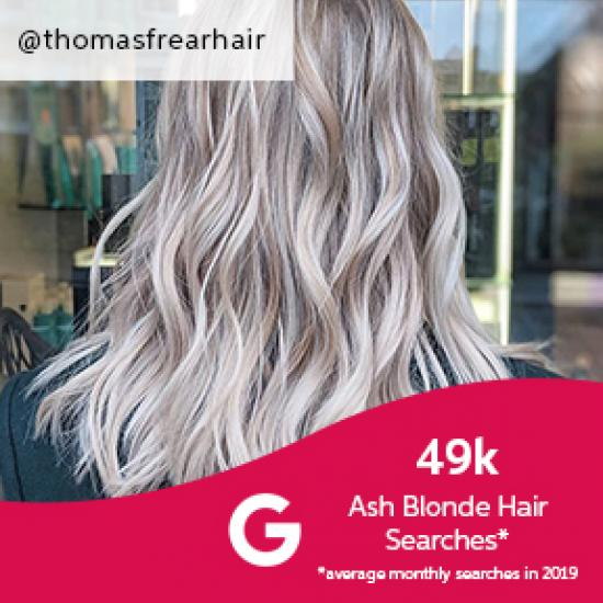 Wavy ash blonde hair, created using Wella Professionals
