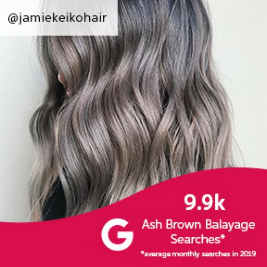 Ash brown balayage hair, created using Wella Professionals