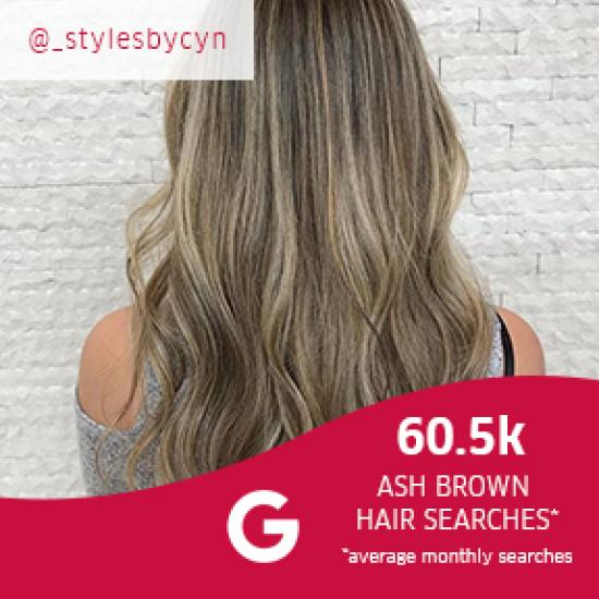 Woman with long, ash brown balayage hair, created with Wella Professionals