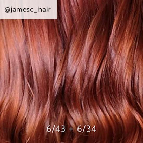 Close-up of auburn hair, creat-ed using Wella Professionals.
