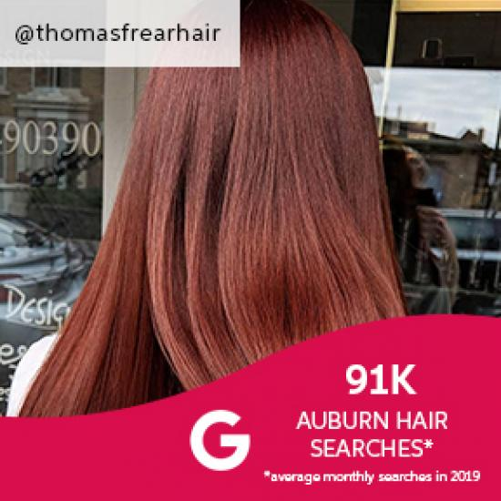 Back of woman's head with auburn hair, created using Wella Professionals.
