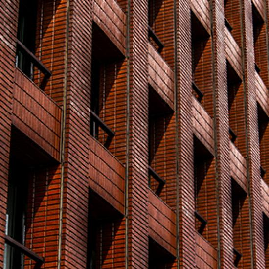 Red brick building.