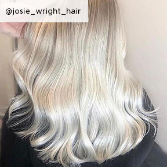 Baby blonde hair, created using Wella Professionals