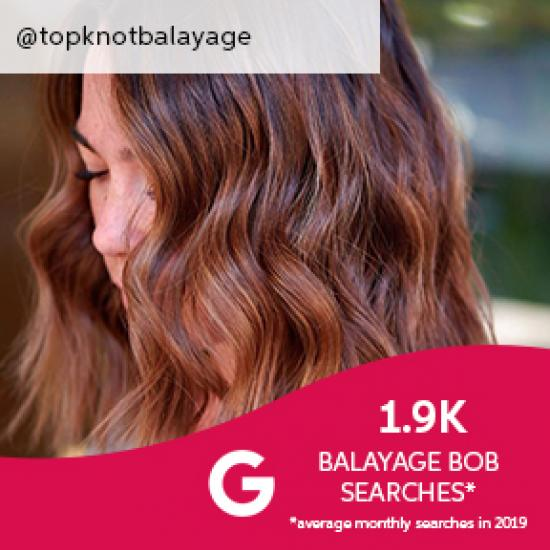 Side profile of woman with short, wavy, brown balayage bob, created using Wella Professionals.