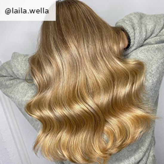 Image of back of head showing butterscotch blonde hair