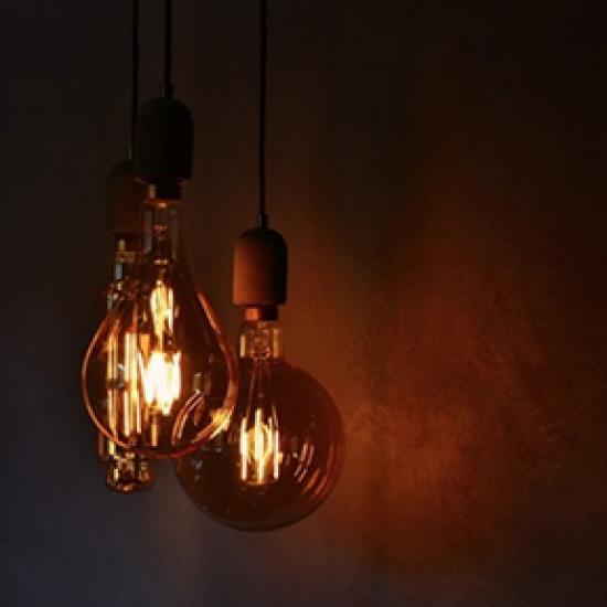 two hanging lights