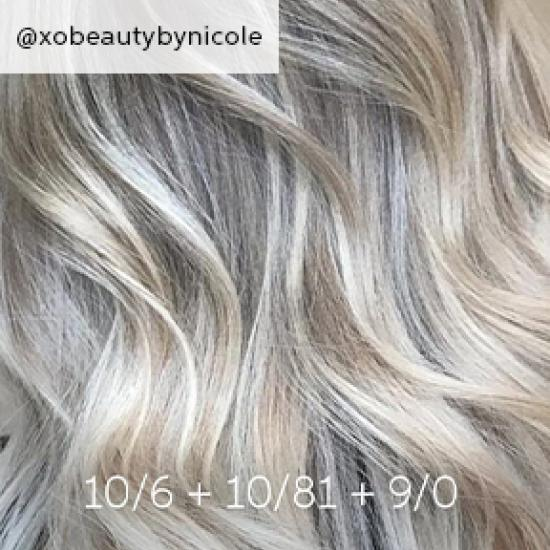Close-up of wavy, dirty blonde hair, created using Wella Professionals.