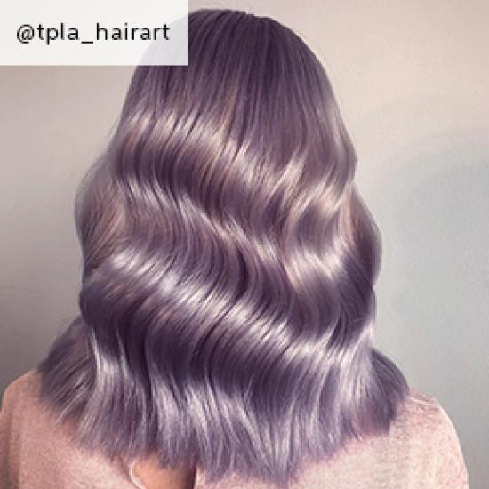 Image of purple Glass Hair, created using Wella Professionals