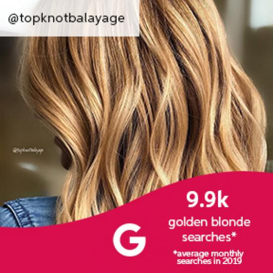 Close-up of woman with golden blonde hair, created using Wella Professionals.