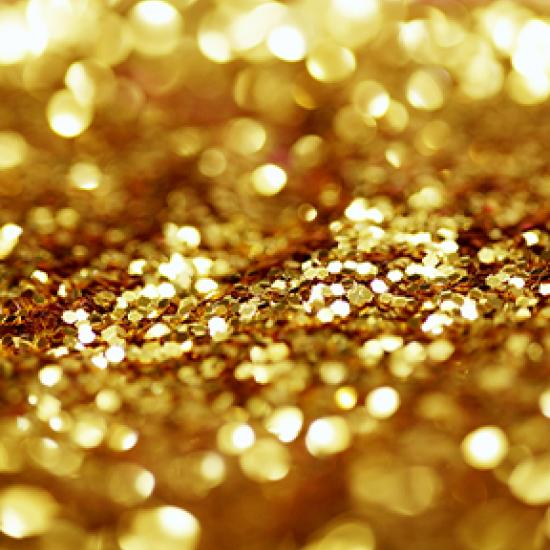 Sprinkling of gold glitter.