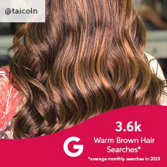 Back of woman's head with golden brown highlights, created using Wella Professionals.
