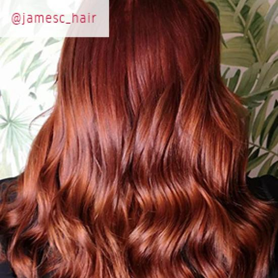 Leather red hair, created using Wella Professionals
