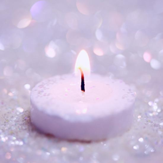 Lilac candle.