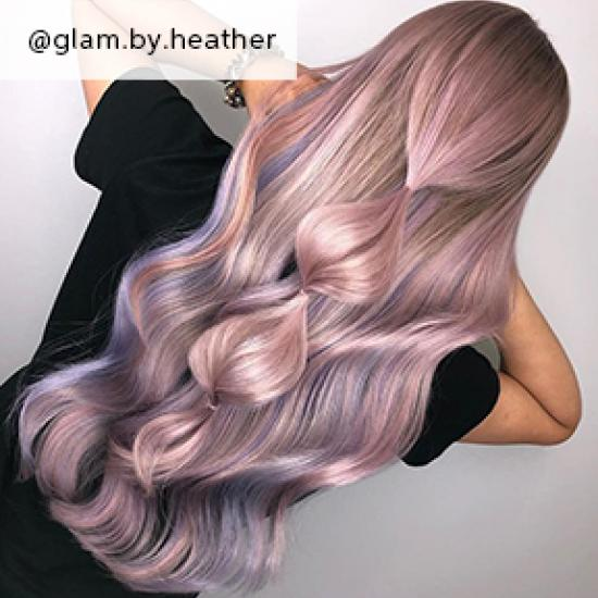 Pastel wavy hair, created using Wella Professionals