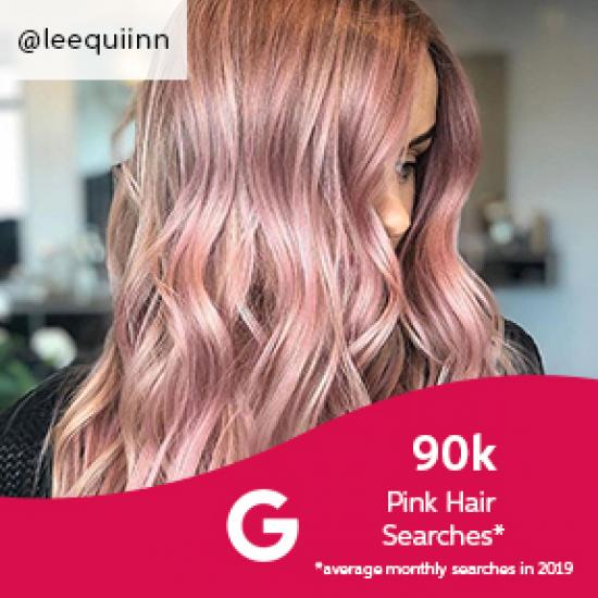 Pink hair, created using Wella Professionals