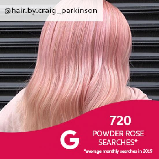 Powder rose hair, created using Wella Professionals