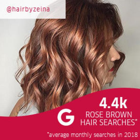 Side profile of woman with curly rose brown hair, created using Wella Professionals.