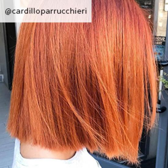 Image of straight red shoulder length hair