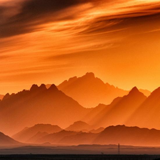 Image of orange desert scene