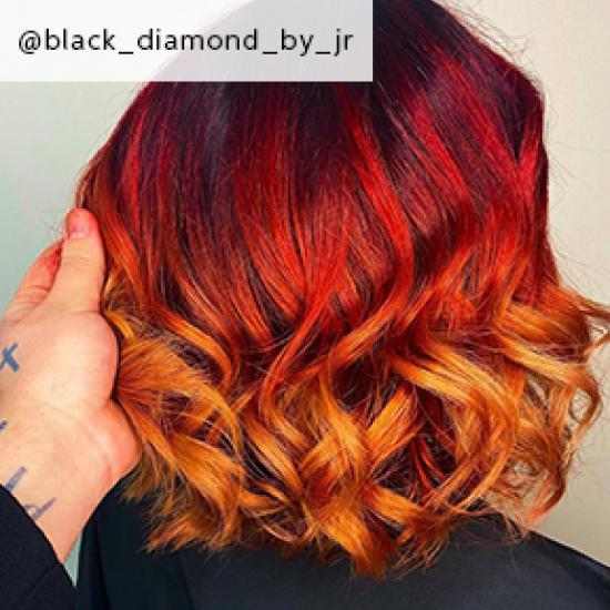 Image of red ombre hair