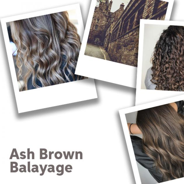 Ash brown balayage, created using Wella Professionals