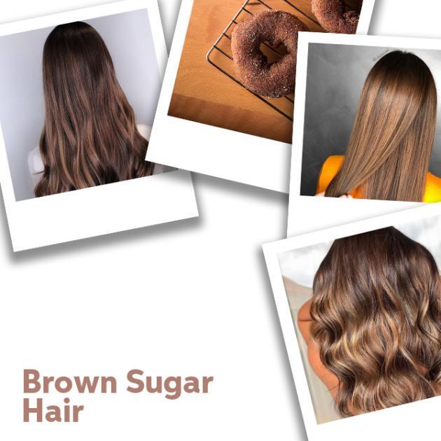 Close up of Brown Sugar Hair