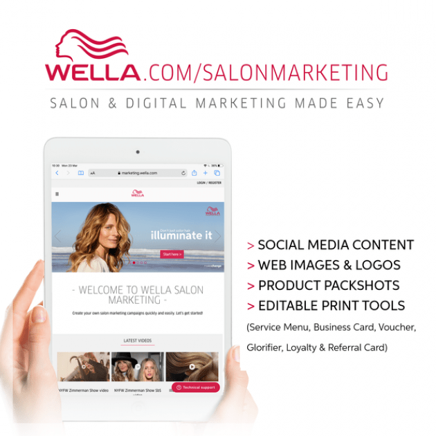 Ipad with Wella homepage