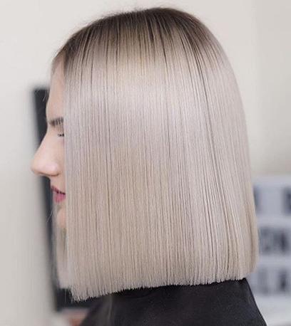 Weiches aschblondes Haar, kreiert mit Wella Professionals