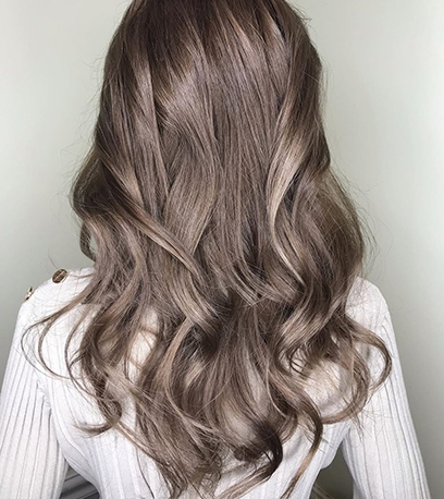Opal ash brown, created using Wella Professionals