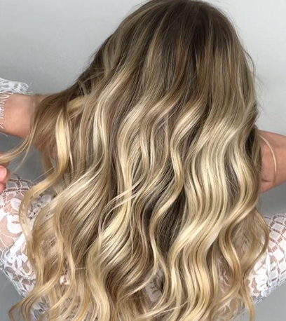 Opal baby highlights, created using Wella Professionals