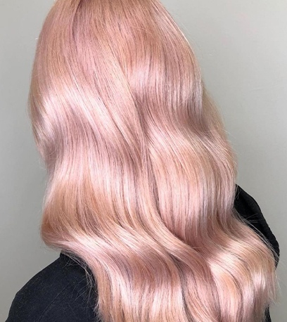 Image of cotton candy hair, created using Wella Professionals