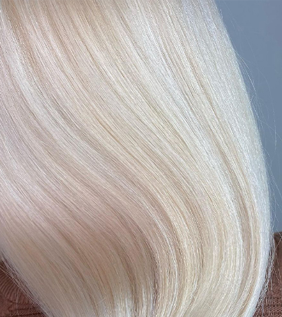 Image of smooth Cream Blonde Hair, created using Wella Professionals