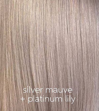 Close-up of super-straight, dark ash blonde hair, created using Wella Professionals.
