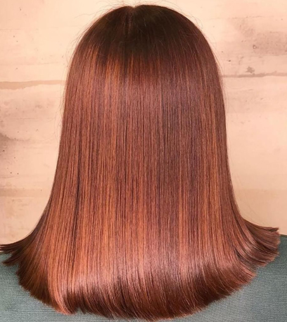 Image of warm Glass Hair, created using Wella Professionals
