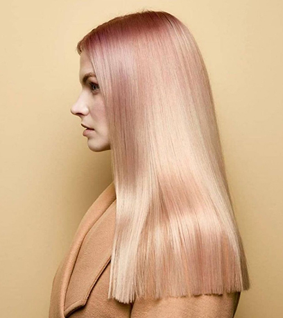 Image of blonde Glass Hair, created using Wella Professionals